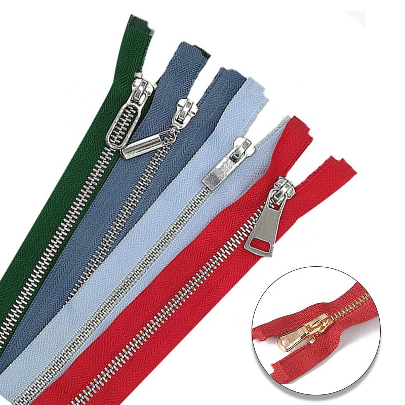 Polyester Woven Tape y teeth Metal Zippers